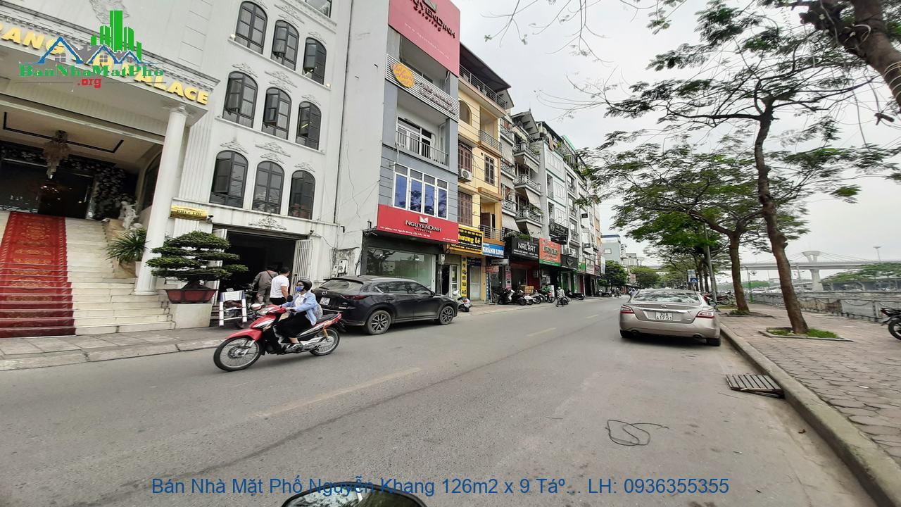 Bán Nhà Mặt Phố Nguyễn Khang 126m2 x 9 Tầng, 3 Mặt Thoáng, Giá Rẻ