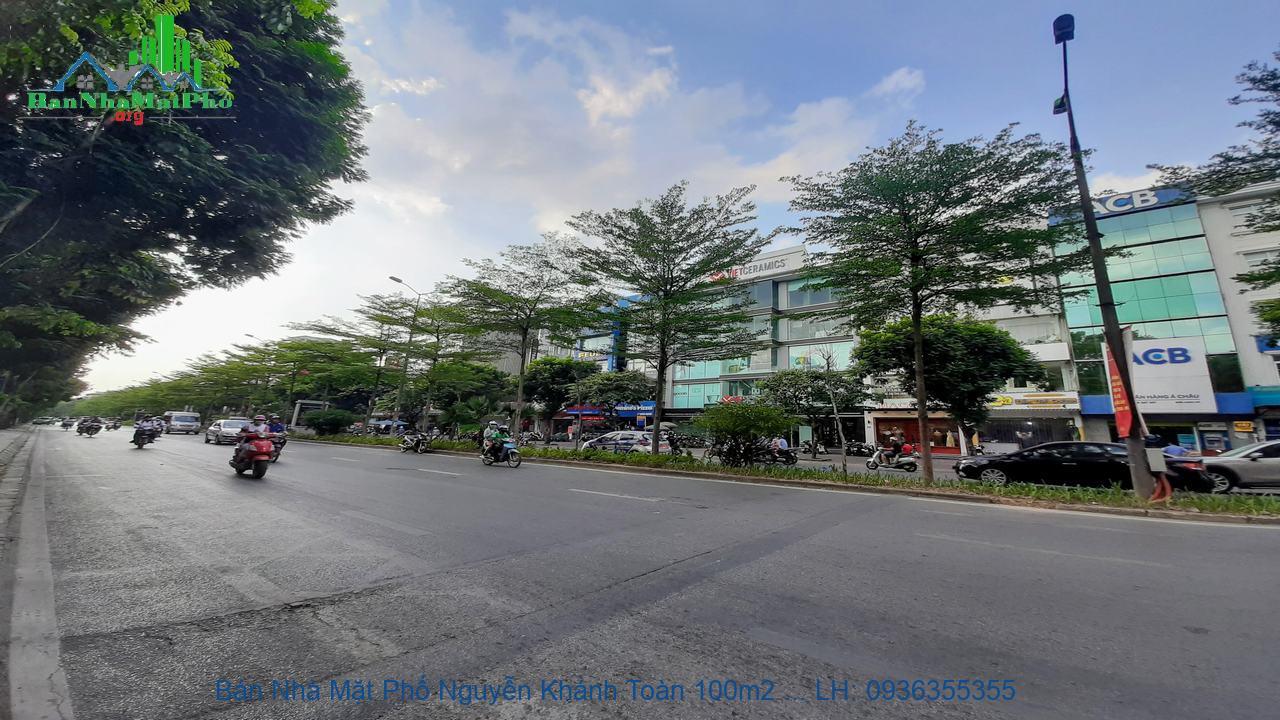 Bán Nhà Mặt Phố Nguyễn Khánh Toàn 100m2 x 5 Tầng, 2 Mặt Đường