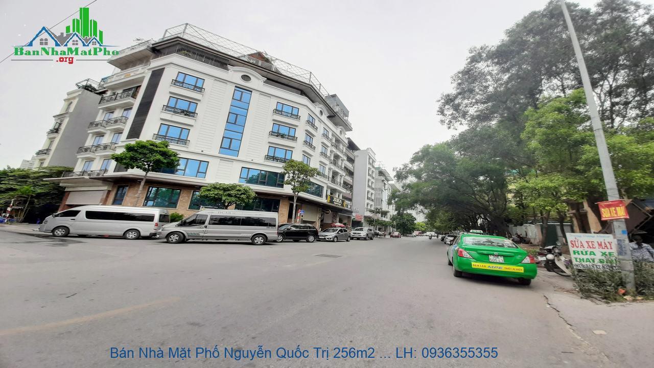 Bán Nhà Mặt Phố Nguyễn Quốc Trị 256m2 x 8 Tầng, Lô Góc 2 Mặt Phố, Siêu