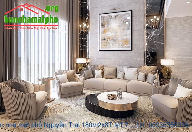 Bán nhà mặt phố Nguyễn Trãi 180m2x8T MT:7m giá 70tỷ