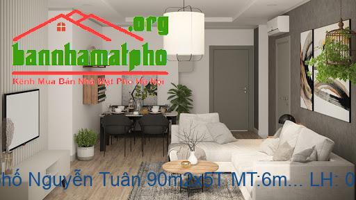Bán nhà mặt phố Nguyễn Tuân 90m2x5T MT:6m giá 35tỷ