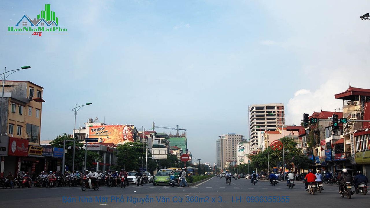 Bán Nhà Mặt Phố Nguyễn Văn Cừ 360m2 x 3 Tầng, Mặt Tiền 11m, Lô Góc