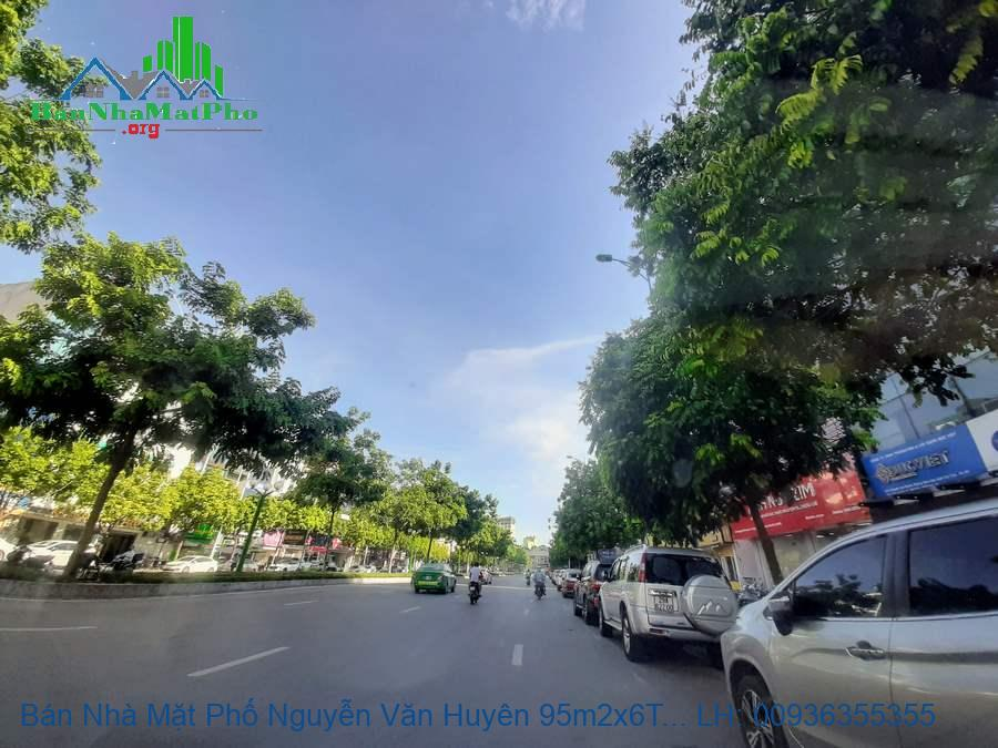 Bán Nhà Mặt Phố Nguyễn Văn Huyên 95m2x6T MT:5m Giá 4x Tỷ Thang Máy