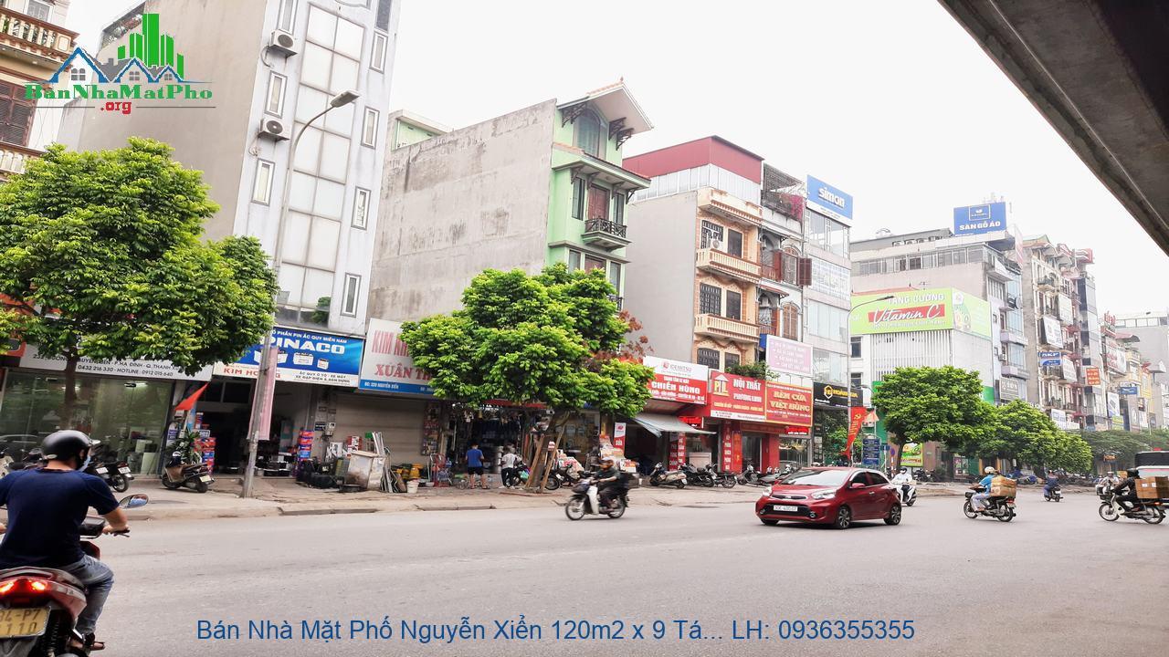 Bán Nhà Mặt Phố Nguyễn Xiển 120m2 x 9 Tầng, Lô Góc 2 Mặt Đường, Giá Rẻ