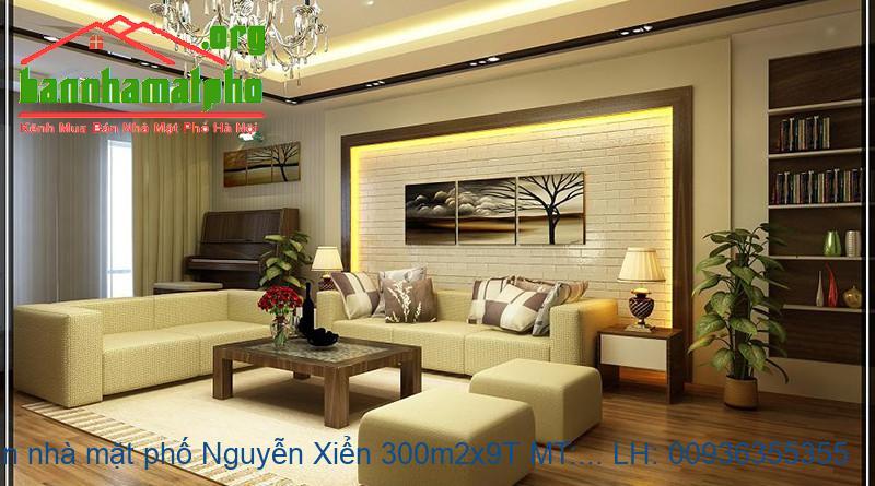 Bán nhà mặt phố Nguyễn Xiển 300m2x9T MT:12m giá 110tỷ