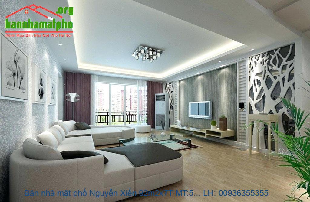 Bán nhà mặt phố Nguyễn Xiển 92m2x7T MT:5,2m giá 27tỷ