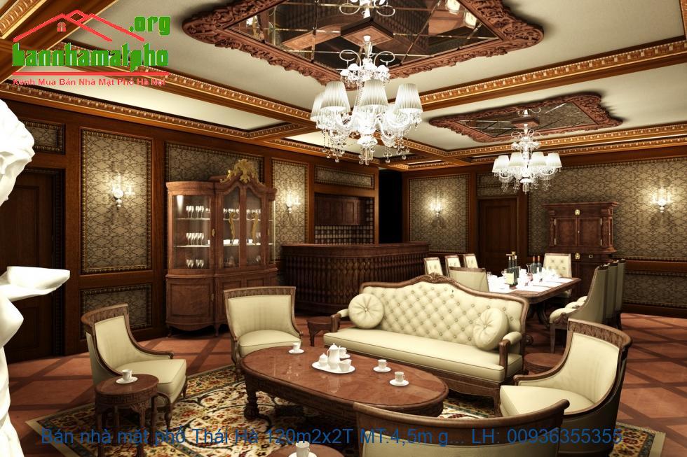 Bán nhà mặt phố Thái Hà 120m2x2T MT:4,5m giá 45tỷ