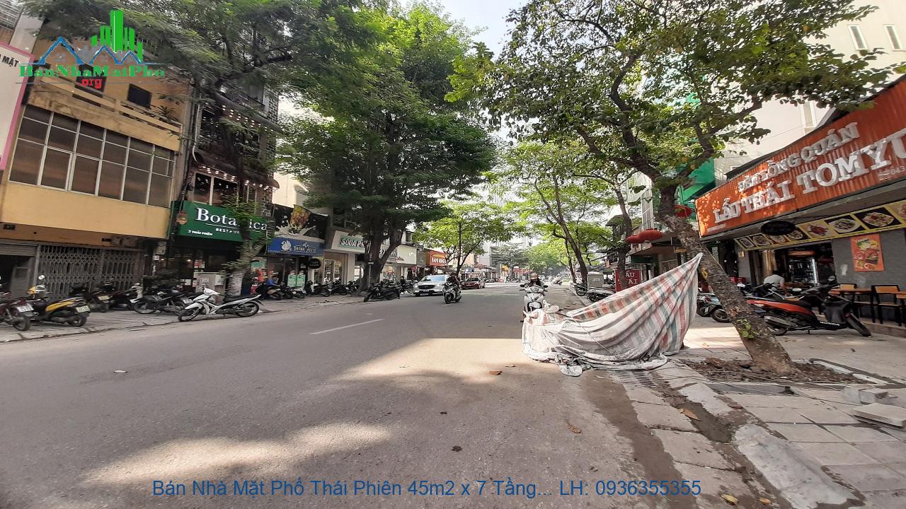 Bán Nhà Mặt Phố Thái Phiên 45m2 x 7 Tầng, Thang Máy, Mặt Tiền 4,5m, Gi
