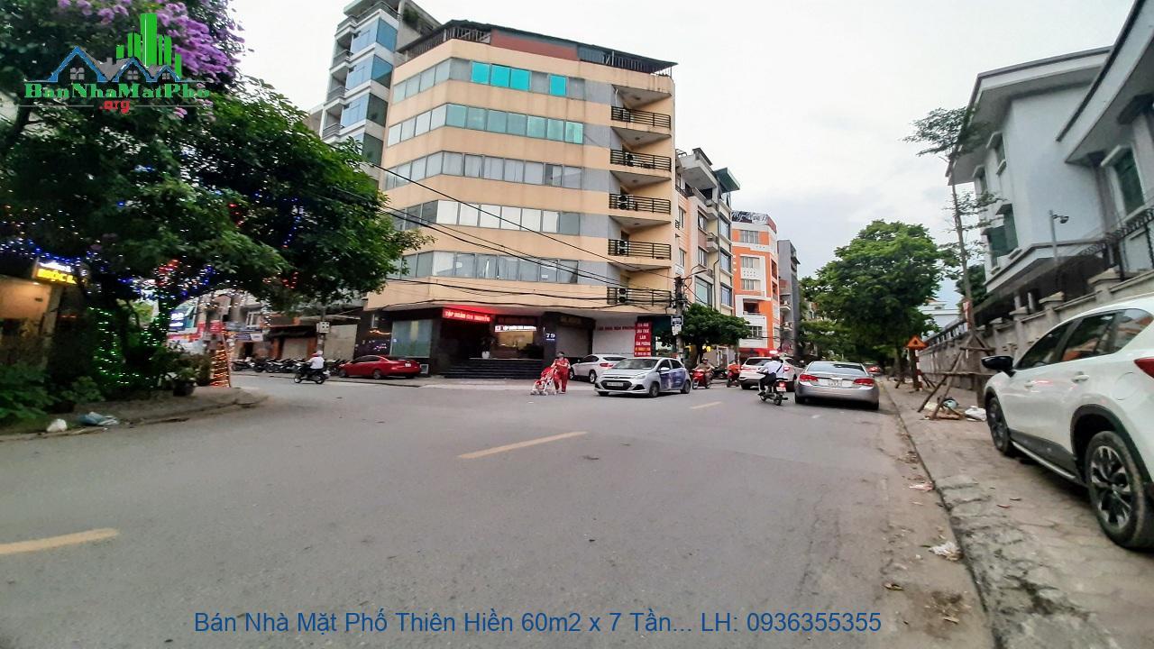 Bán Nhà Mặt Phố Thiên Hiền 60m2 x 7 Tầng, Mặt Tiền 5m, Thang Máy
