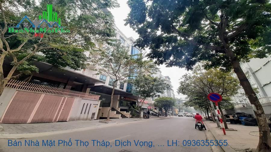 Bán Nhà Mặt Phố Thọ Tháp, Dịch Vọng, 100m2, 4,5 Tầng, Mặt Tiền 6m