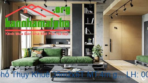 Bán nhà mặt phố Thụy Khuê 35m2x5T MT:4m giá 7tỷ