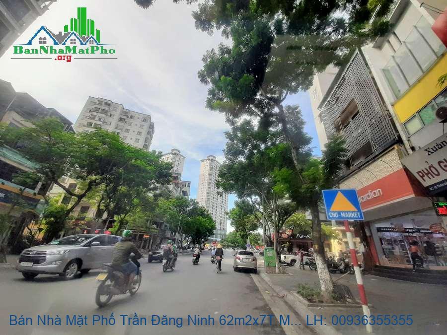 Bán Nhà Mặt Phố Trần Đăng Ninh 62m2x7T MT:4m5 Giá Chỉ 3x Tỷ