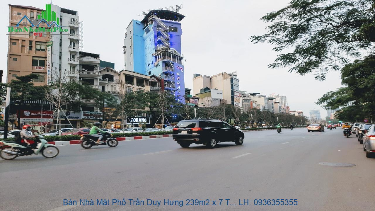 Bán Nhà Mặt Phố Trần Duy Hưng 239m2 x 7 Tầng, Mặt Tiền 13m, Thang Máy