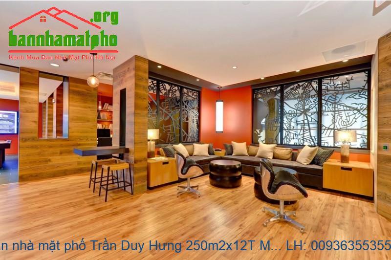 Bán nhà mặt phố Trần Duy Hưng 250m2x12T MT:8m giá 140tỷ
