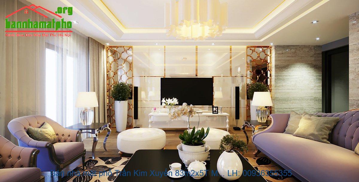 Bán nhà mặt phố Trần Kim Xuyến 83m2x5T MT:5m giá 26tỷ