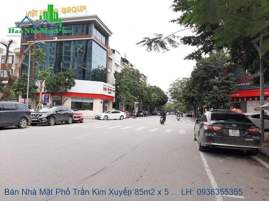 Bán Nhà Mặt Phố Trần Kim Xuyến 85m2 x 5 Tầng, Mặt Tiền 5,5m, Giá Rẻ