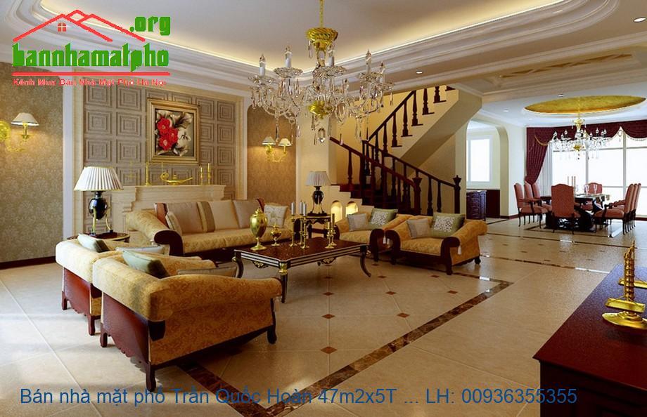 Bán nhà mặt phố Trần Quốc Hoàn 47m2x5T MT:4m giá 16tỷ