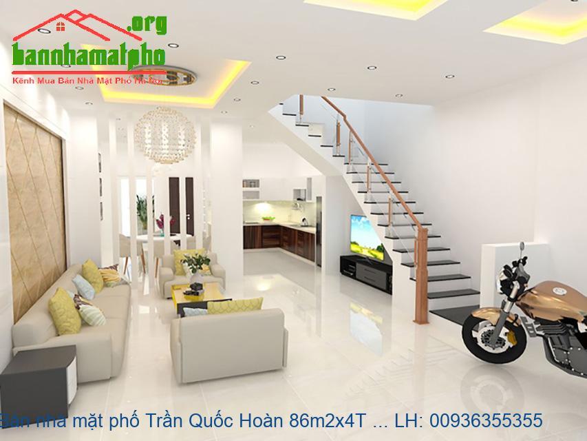 Bán nhà mặt phố Trần Quốc Hoàn 86m2x4T MT:7,5m giá 30tỷ