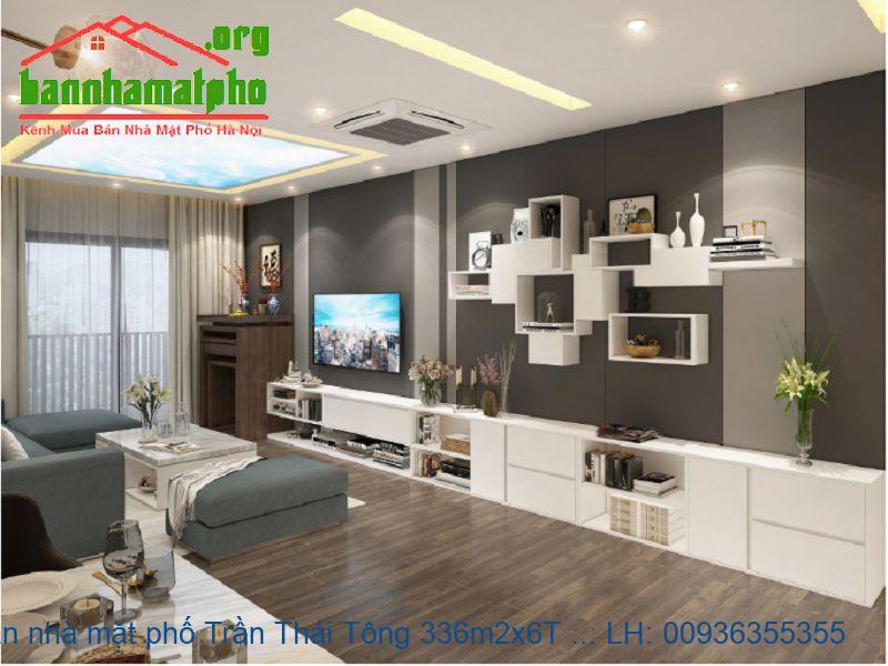 Bán nhà mặt phố Trần Thái Tông 336m2x6T MT:14m giá 120tỷ