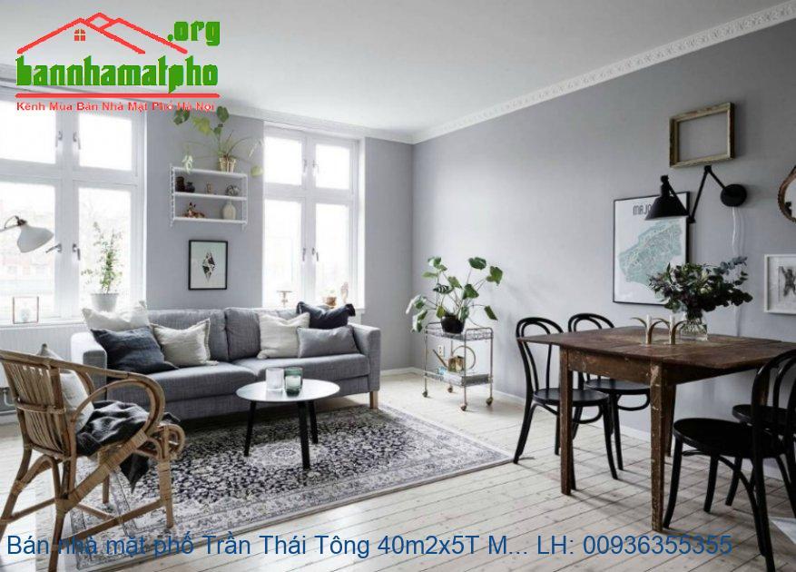 Bán nhà mặt phố Trần Thái Tông 40m2x5T MT:5m giá 19tỷ