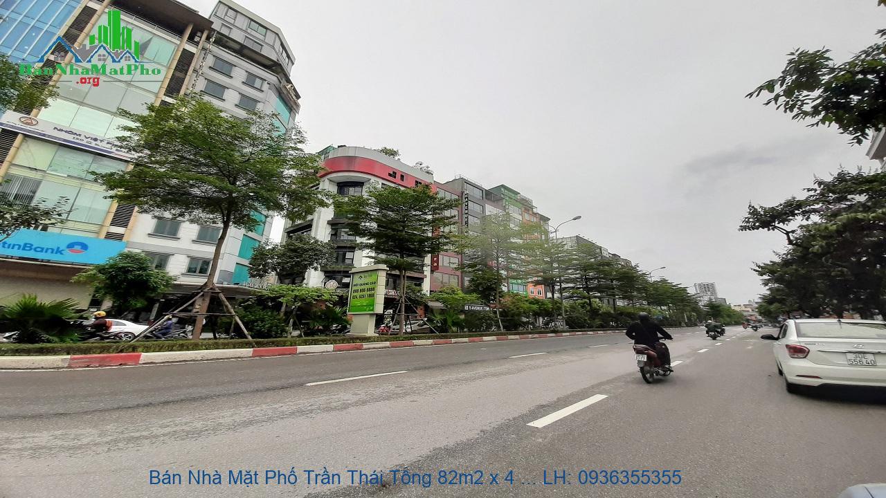 Bán Nhà Mặt Phố Trần Thái Tông 82m2 x 4 Tầng, 3 Mặt Đường, Giá Hấp Dẫn