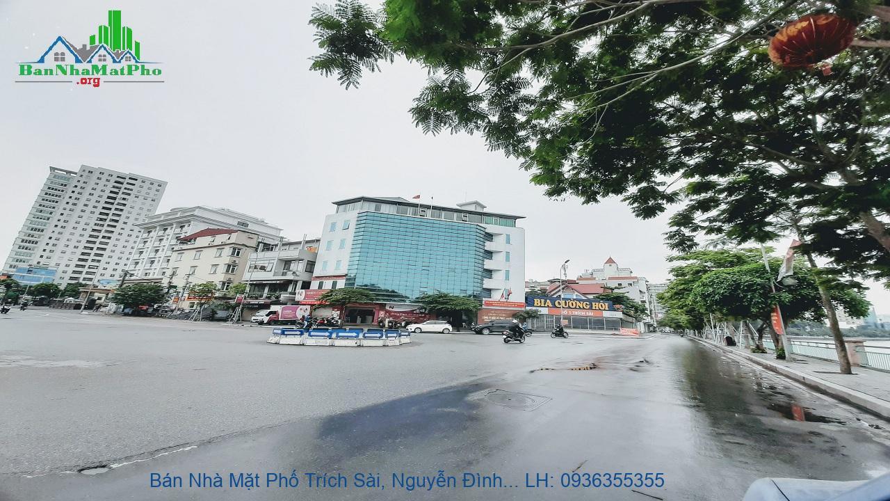 Bán Nhà Mặt Phố Trích Sài, Nguyễn Đình Thi, 65m2, 5 Tầng, 2 Mặt Đường