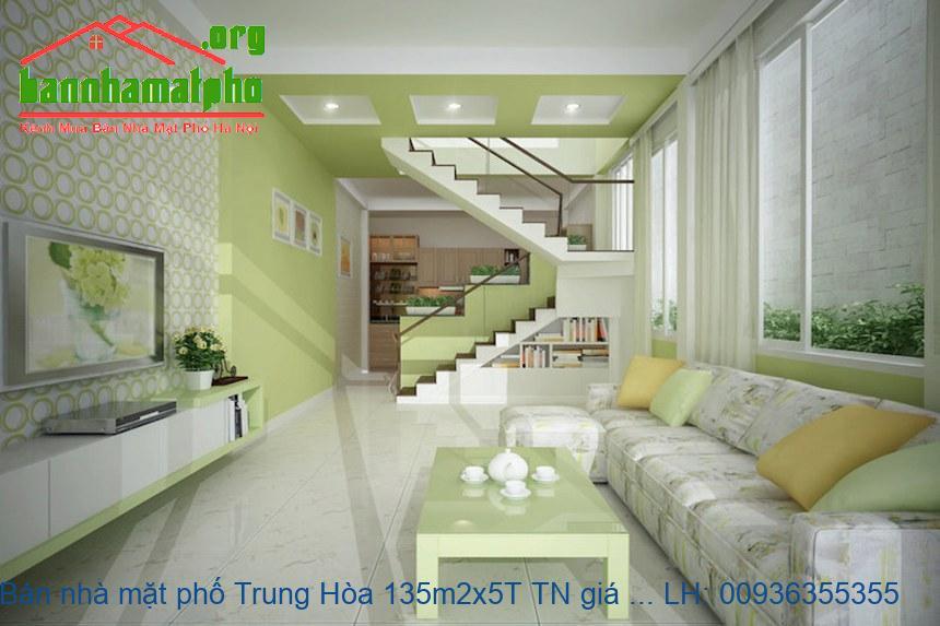 Bán nhà mặt phố Trung Hòa 135m2x5T TN giá 42tỷ