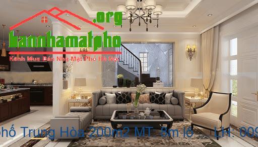 Bán nhà mặt phố Trung Hòa 200m2 MT: 8m lô góc giá 74 tỷ