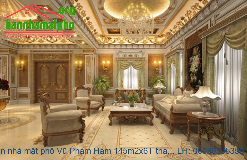 Bán nhà mặt phố Vũ Phạm Hàm 145m2x6T thang máy giá 40tỷ