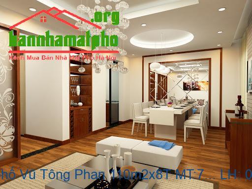 Bán nhà mặt phố Vũ Tông Phan 110m2x8T MT:7m giá 30tỷ