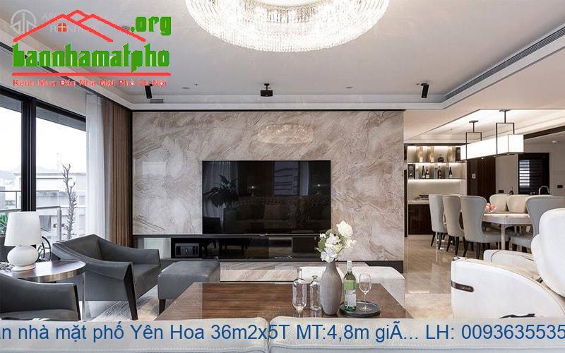 Bán nhà mặt phố Yên Hoa 36m2x5T MT:4,8m giá 13tỷ