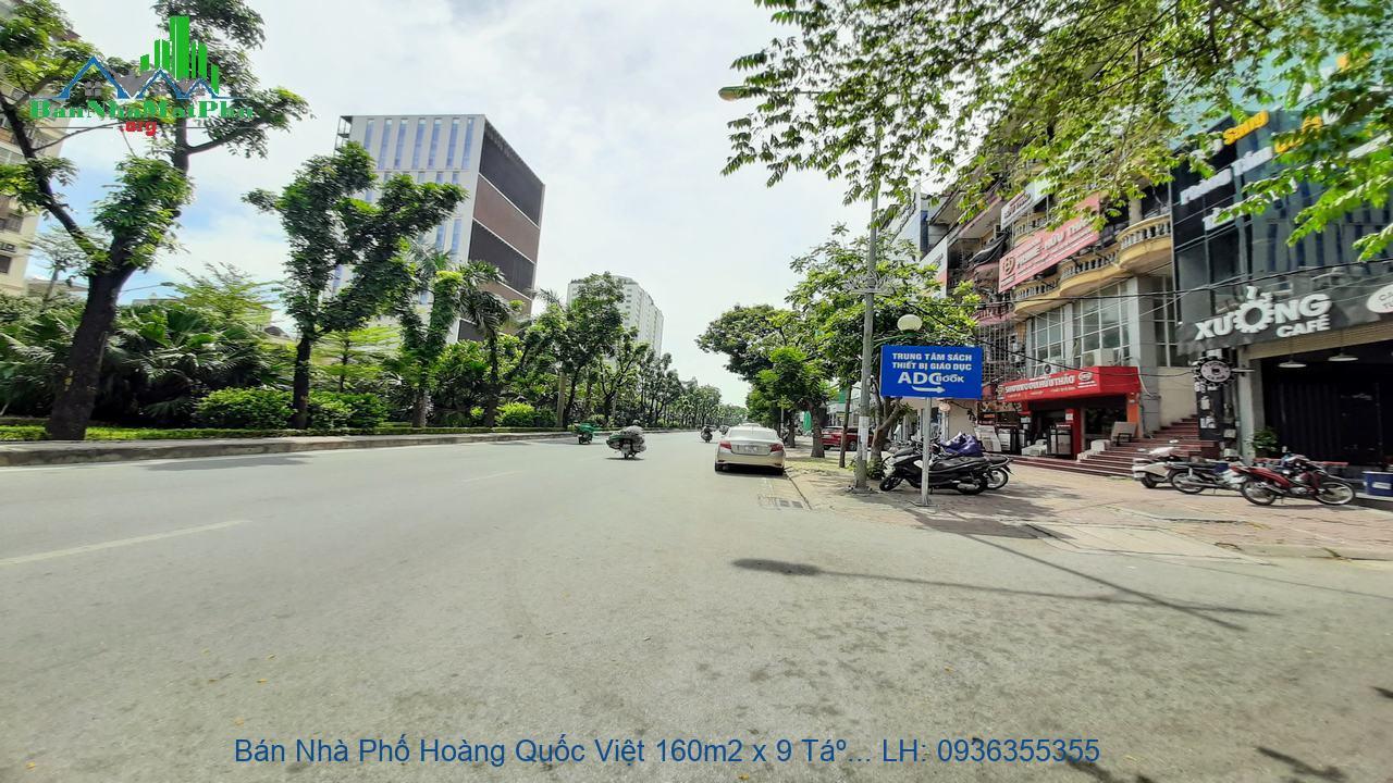 Bán Nhà Phố Hoàng Quốc Việt 160m2 x 9 Tầng, Mặt Tiền 8,5m, Lô Góc