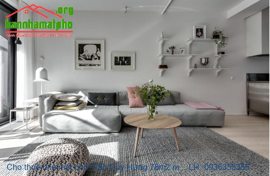 Cho thuê nhà mặt phố Trần Duy Hưng 78m2 mt 6m nhà 5 tầng